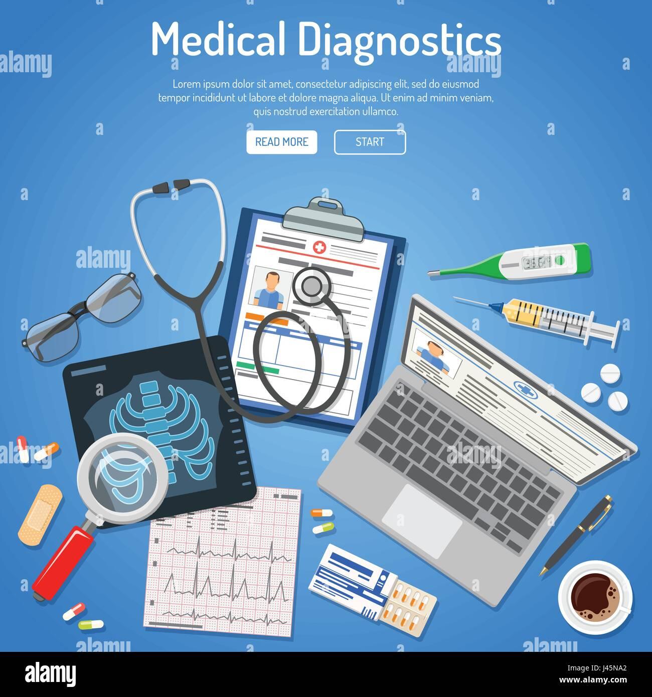 Medical diagnostics concept - Stock Image