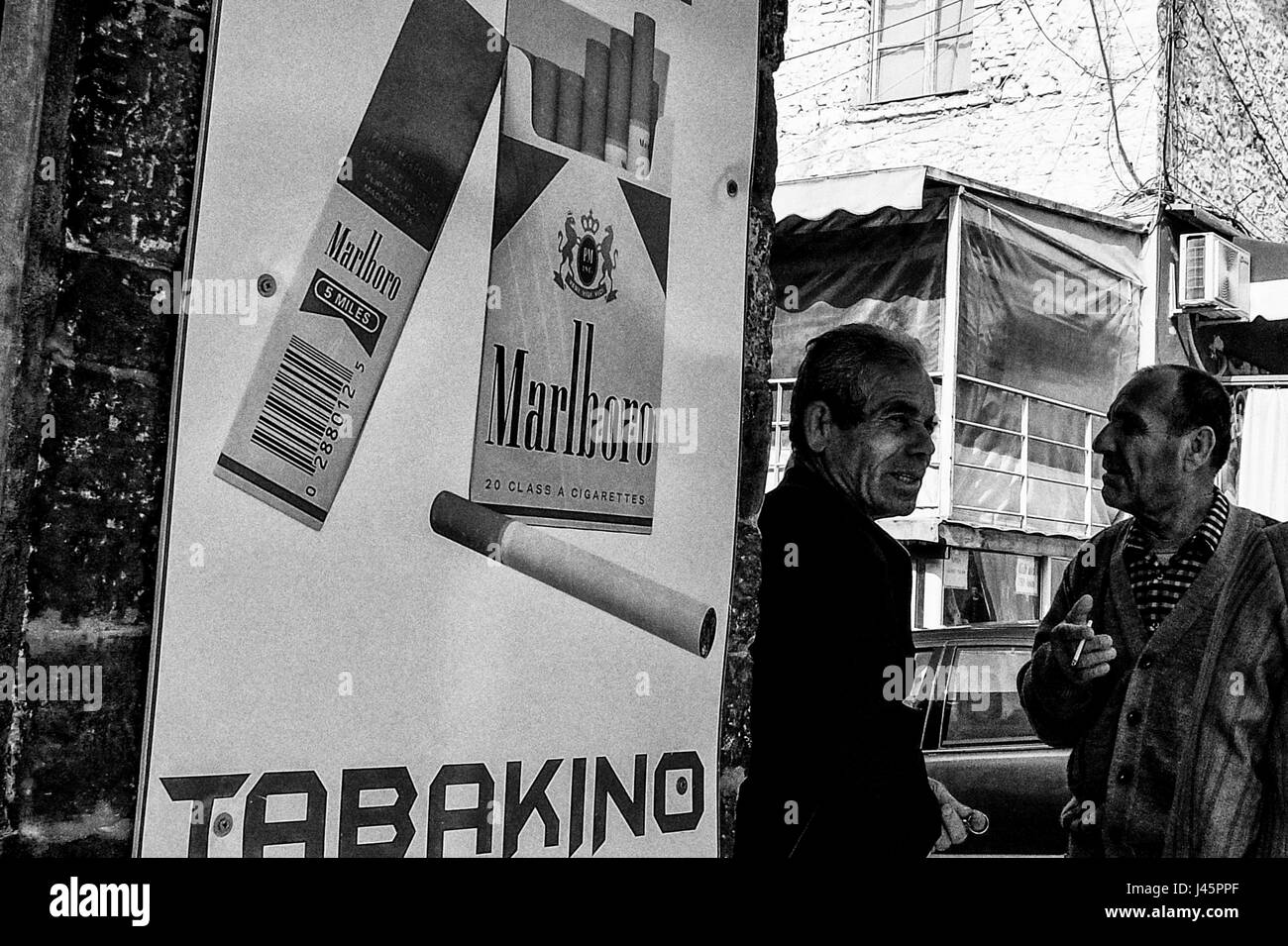 Marlboro Cigarettes Black And White Stock Photos Images Alamy 20 Berat Albania 2nd May 2017 Views Of The City