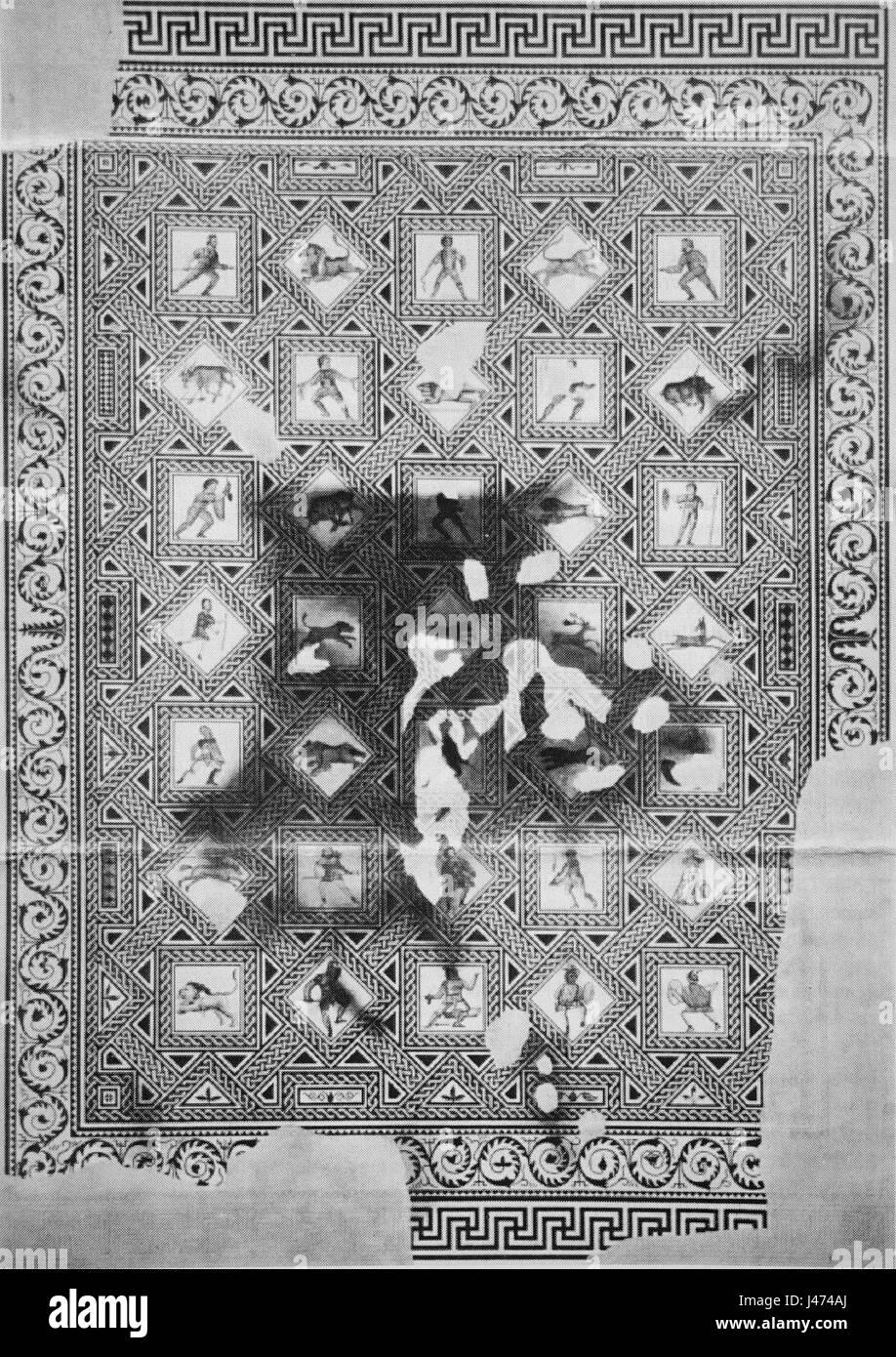 Mosaique des hautes promenades 06540 - Stock Image