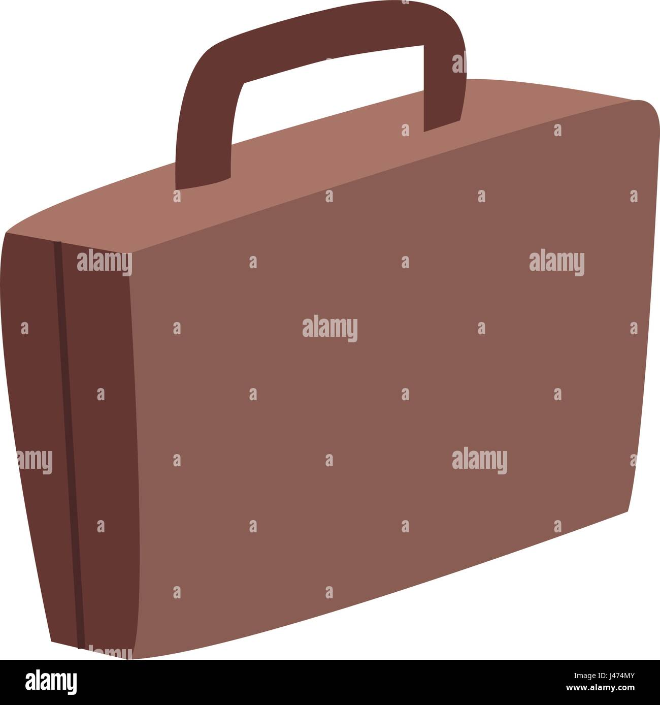 suitcase luggage travel equipment image - Stock Vector