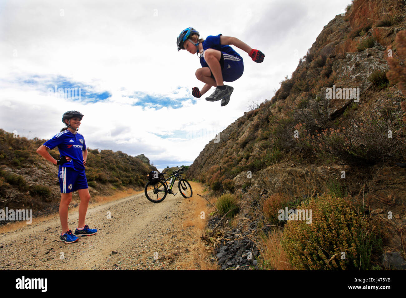Picture by Tim Cuff - 18-23 December 2016 - Otago Rail Trail, New Zealand: - Stock Image