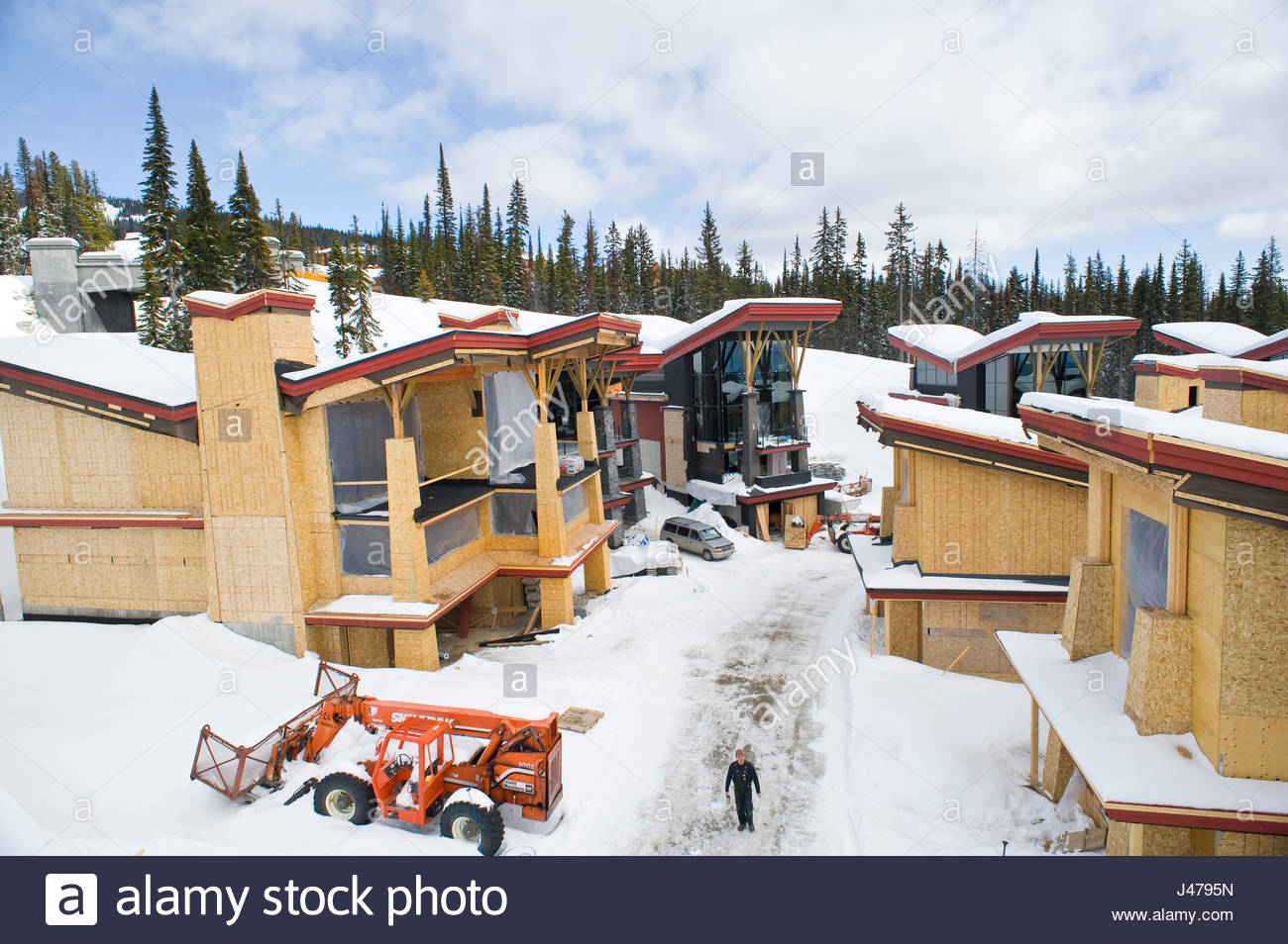 Homes under construction big white british columbia canada