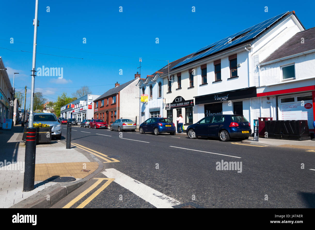 Main Street. The Claudy bombing occurred on 31 July 1972, when three car bombs exploded mid-morning on the Main Stock Photo