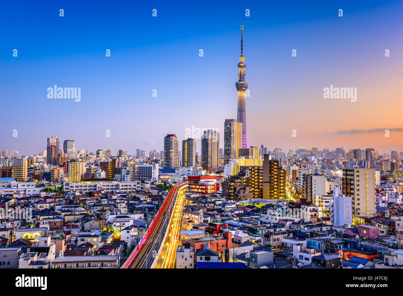 Tokyo, Japan Sumida skyline. - Stock Image