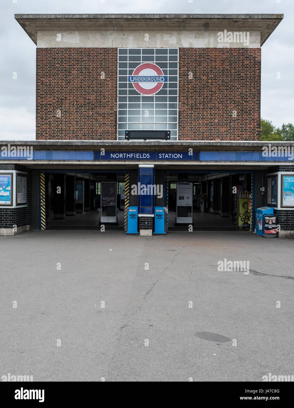 Northfields station - Stock Image