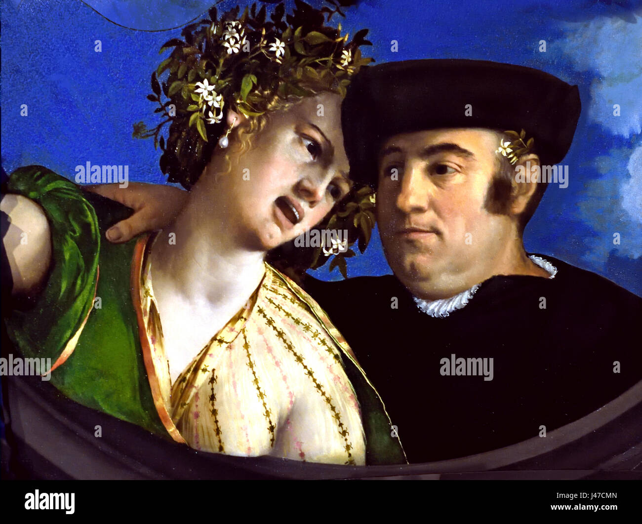 A Man embracing a Woman, 1524 by  Dossi Dosso, 1486-1542 Italy Italian 16th Century - Stock Image