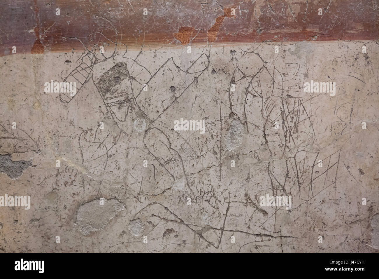 Graffiti Found In A Lupanar Roman Brothel In Pompeii