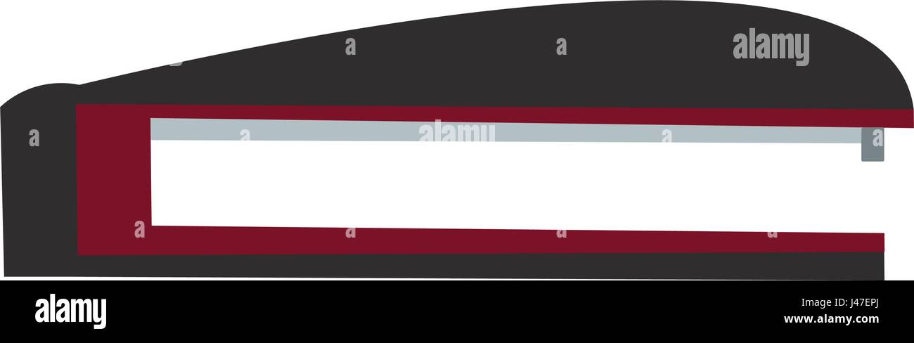 stapler office objet plastic black and red - Stock Image