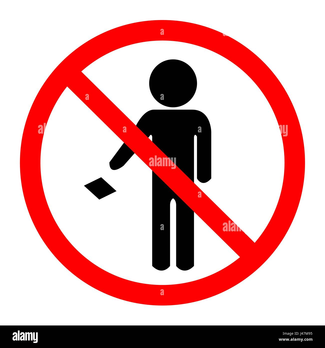 No Garbage On Floor : Do not leave your trash on the floor icon sign stock