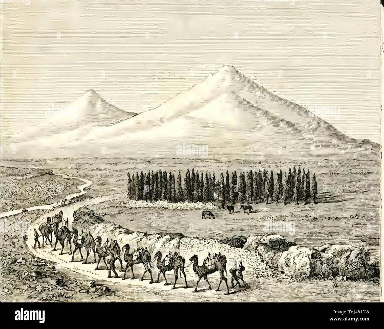 Map Of Mount Ararat Stock Photos & Map Of Mount Ararat Stock
