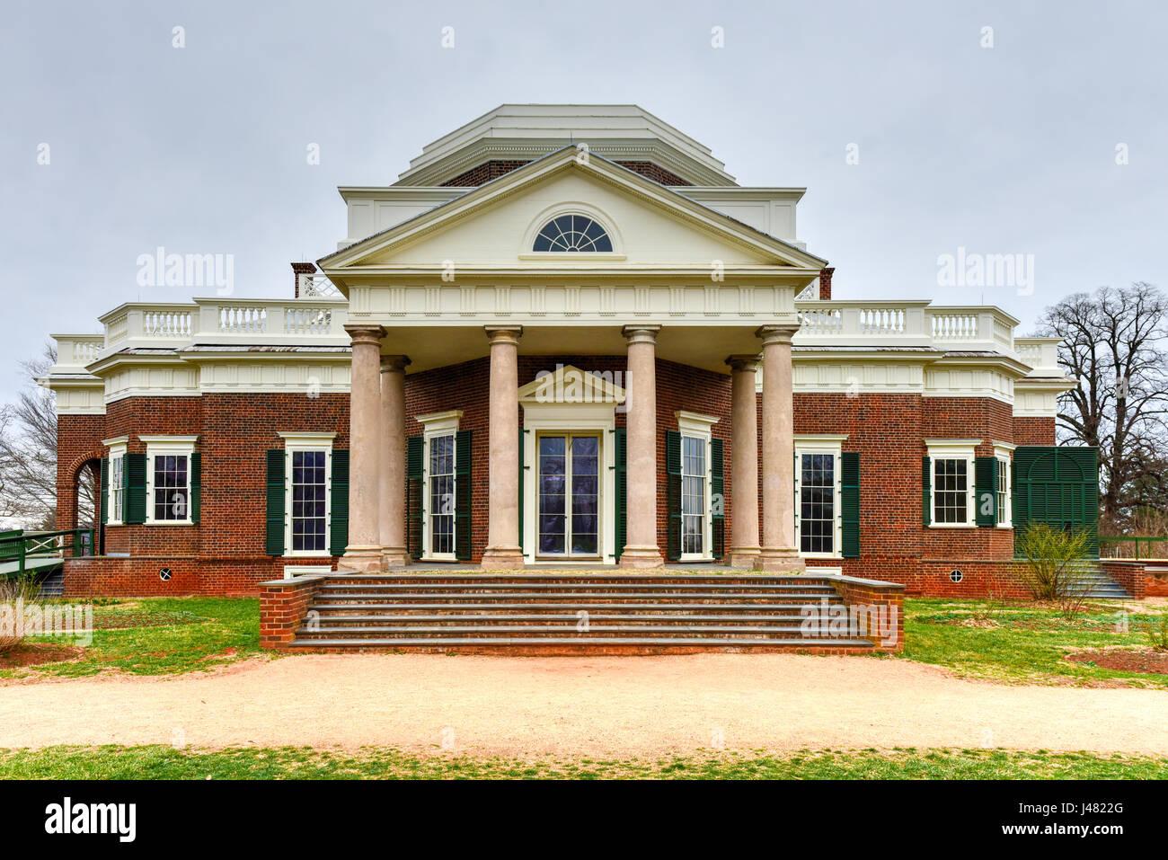 Thomas Jefferson S Home Monticello In Charlottesville Virginia