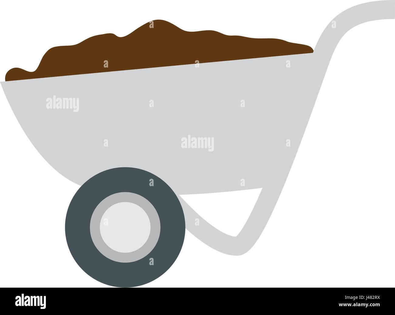 Construction wheelbarrow equipment - Stock Image