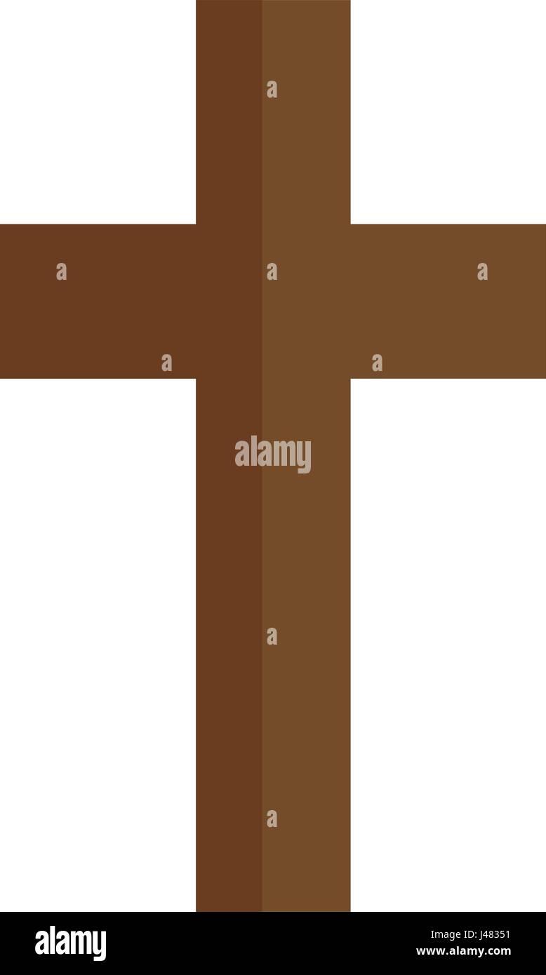 Christian cross symbol icon - Stock Image
