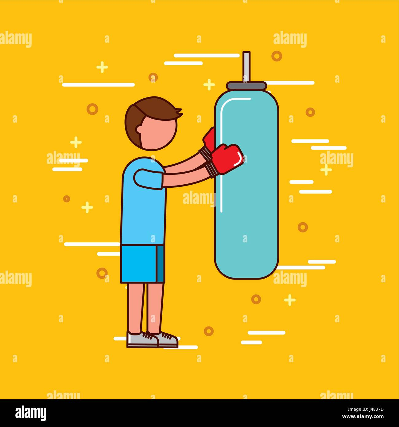 sports or exercise image - Stock Vector
