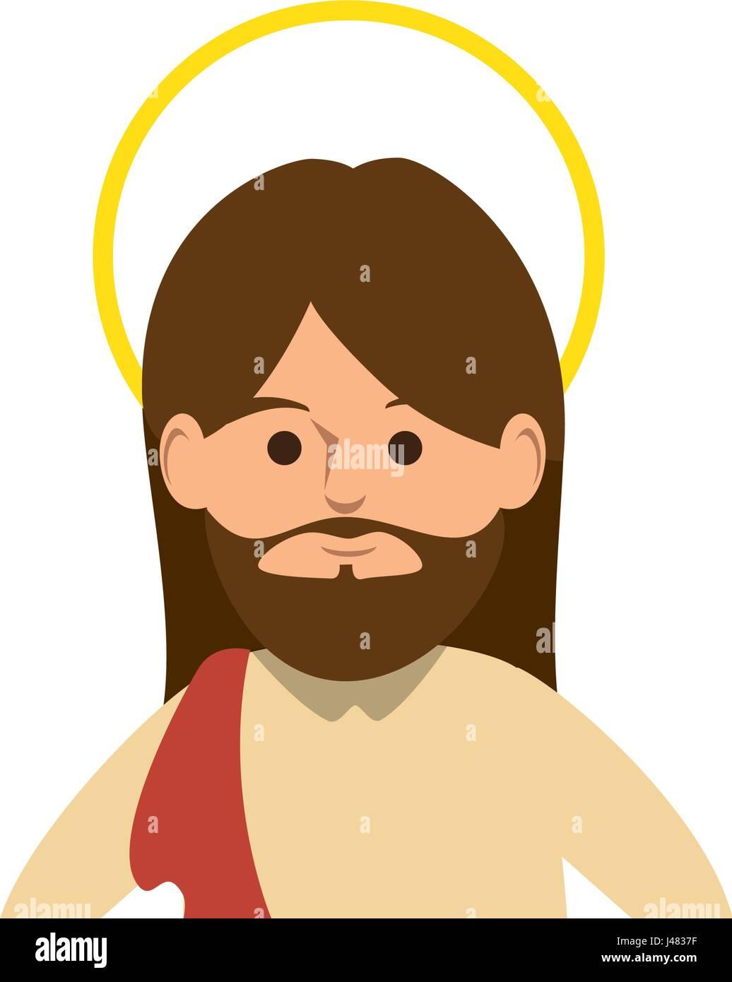 cartoon jesus christ  icon - Stock Image