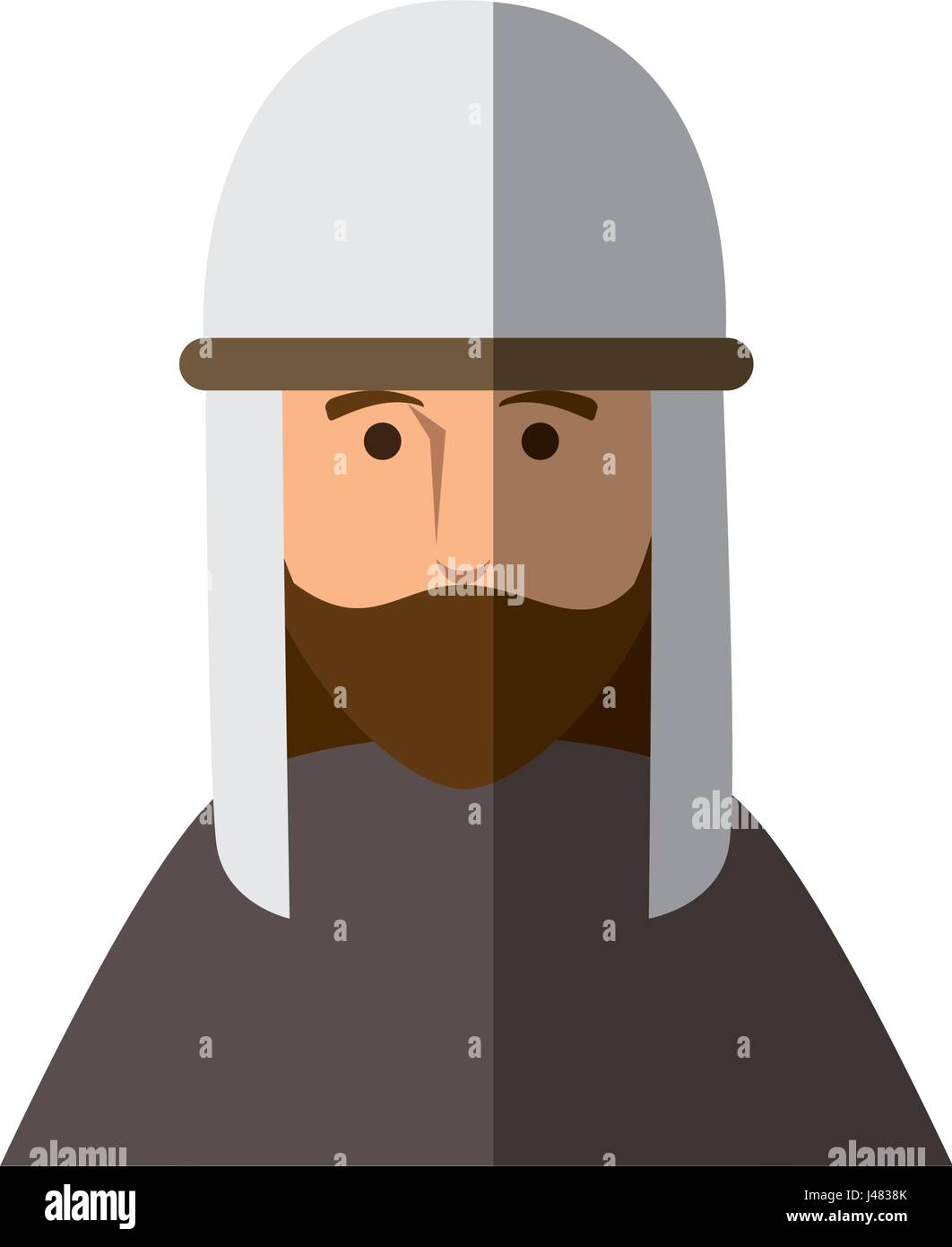 jesus christ man icon - Stock Image