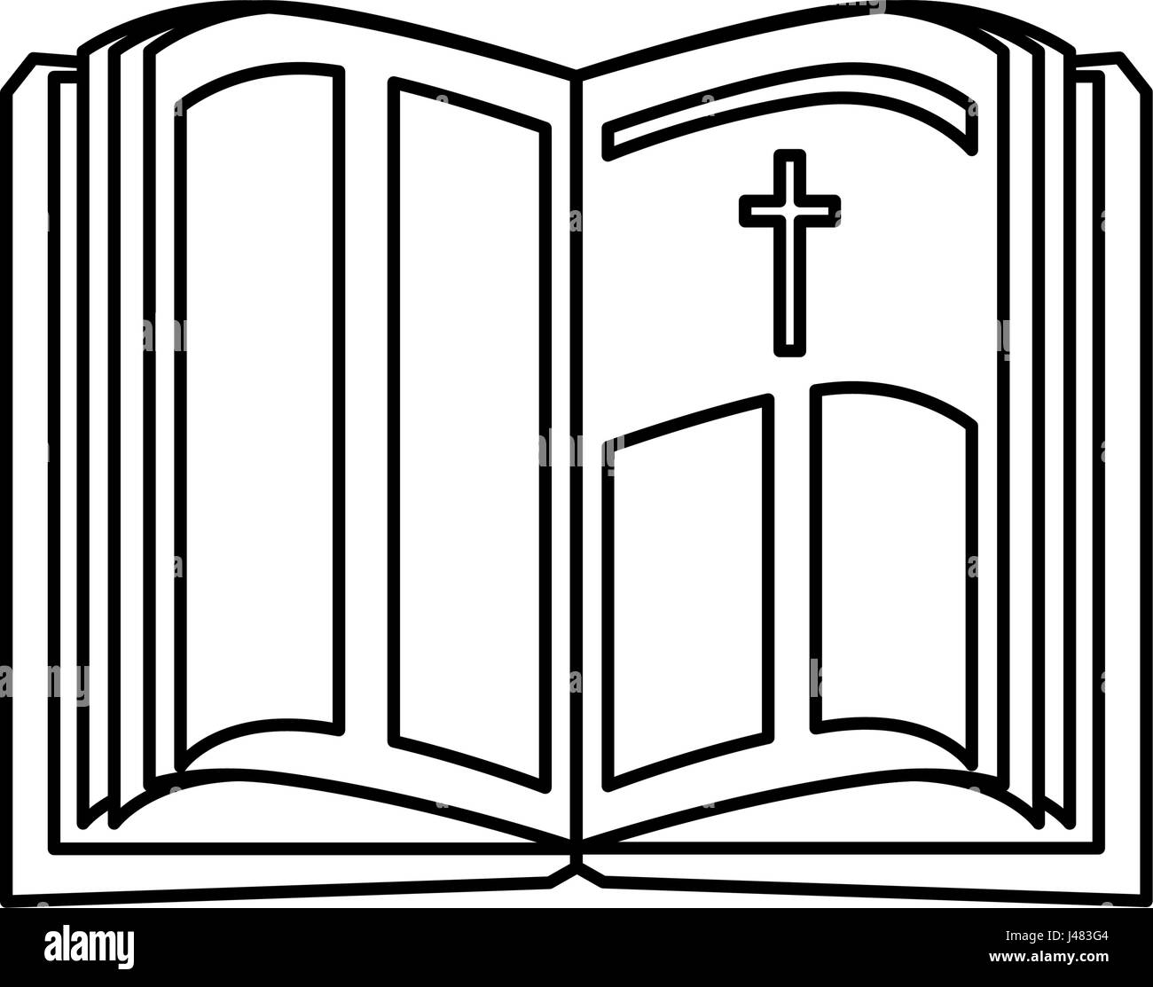 holy bible icon Stock Vector