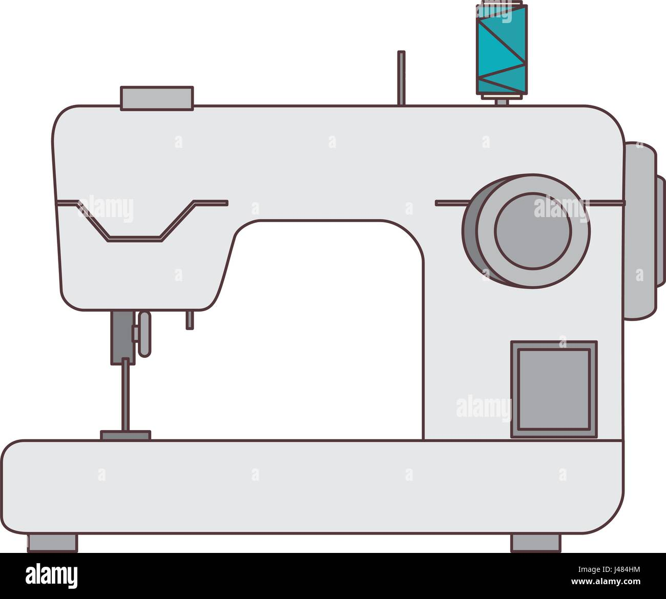 Household Sewing Machine Stock Photos Diagram Car Interior Design Isolated Icon Image