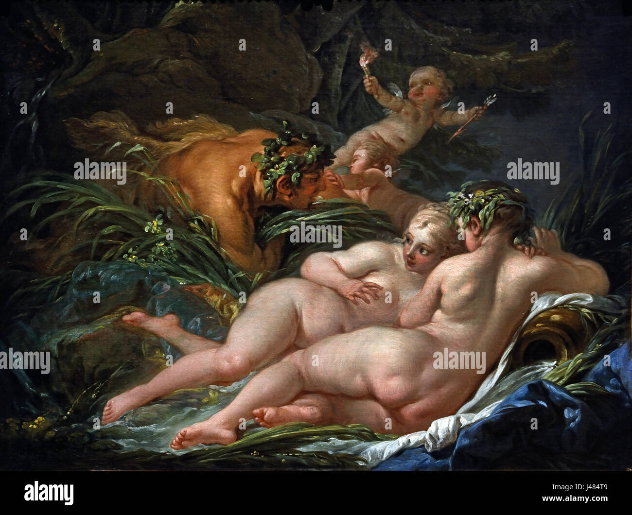Pan and Syrinx 1759 François Boucher 1703 - 1770 France  French ( Story from Ovid's 'Metamorphoses' - Stock Image