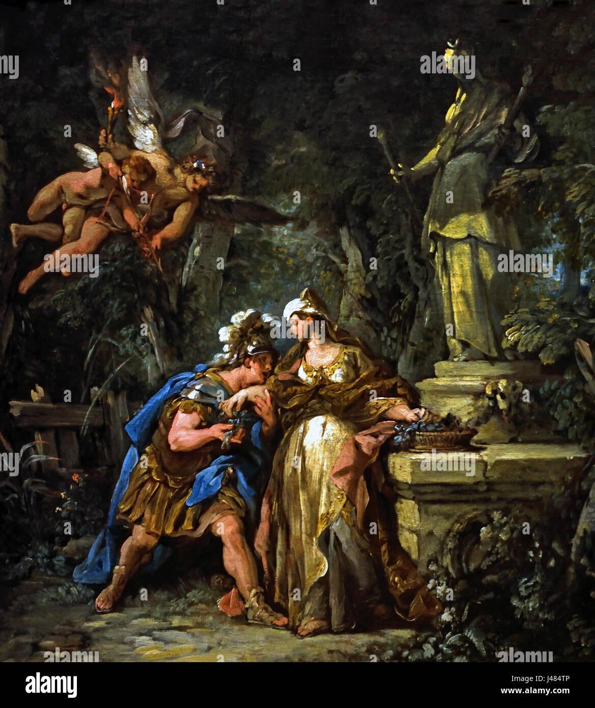 Jason swearing Eternal Affection to Medea 1742-3, Jean-François Detroy 1679 - 1752  French ,France(  Ovid's - Stock Image