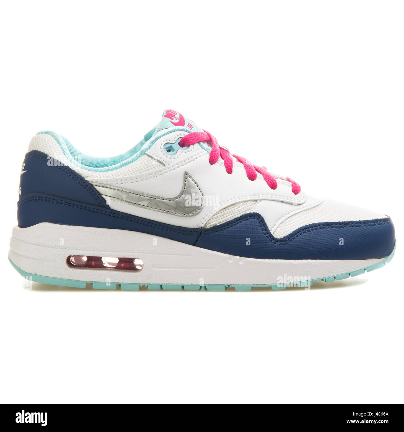 Nike Air Max 1 (GS) - 653653-100 - Stock Image