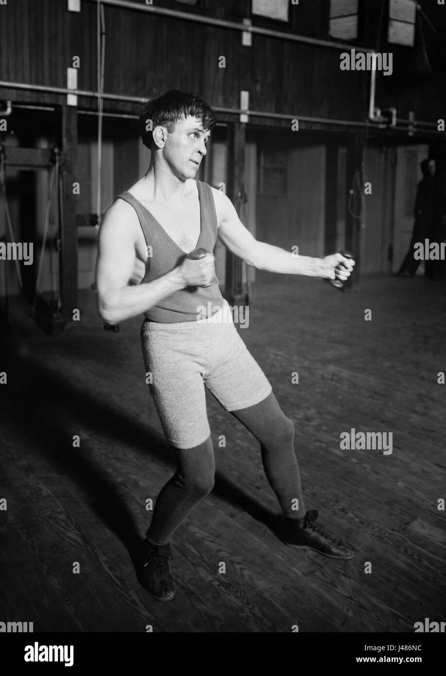 Vintage photo of boxer Battling Nelson (1882 – 1954) – World Lightweight Champion 1908 – 1910. Nelson (real name - Stock Image