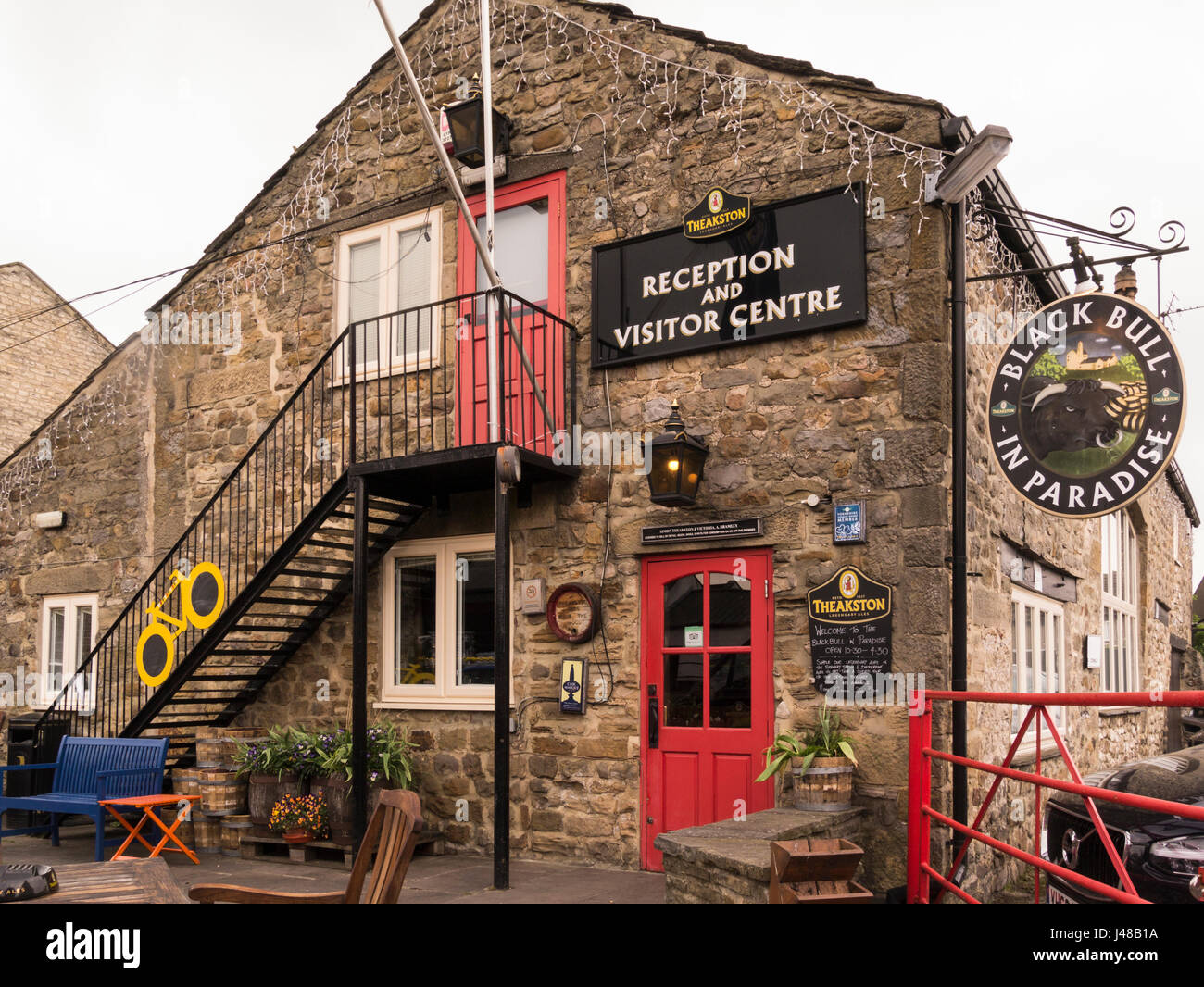 Black Bull in Paradise Theakston Brewery Visitor Centre situated at the brewery in Masham North Yorkshire England Stock Photo