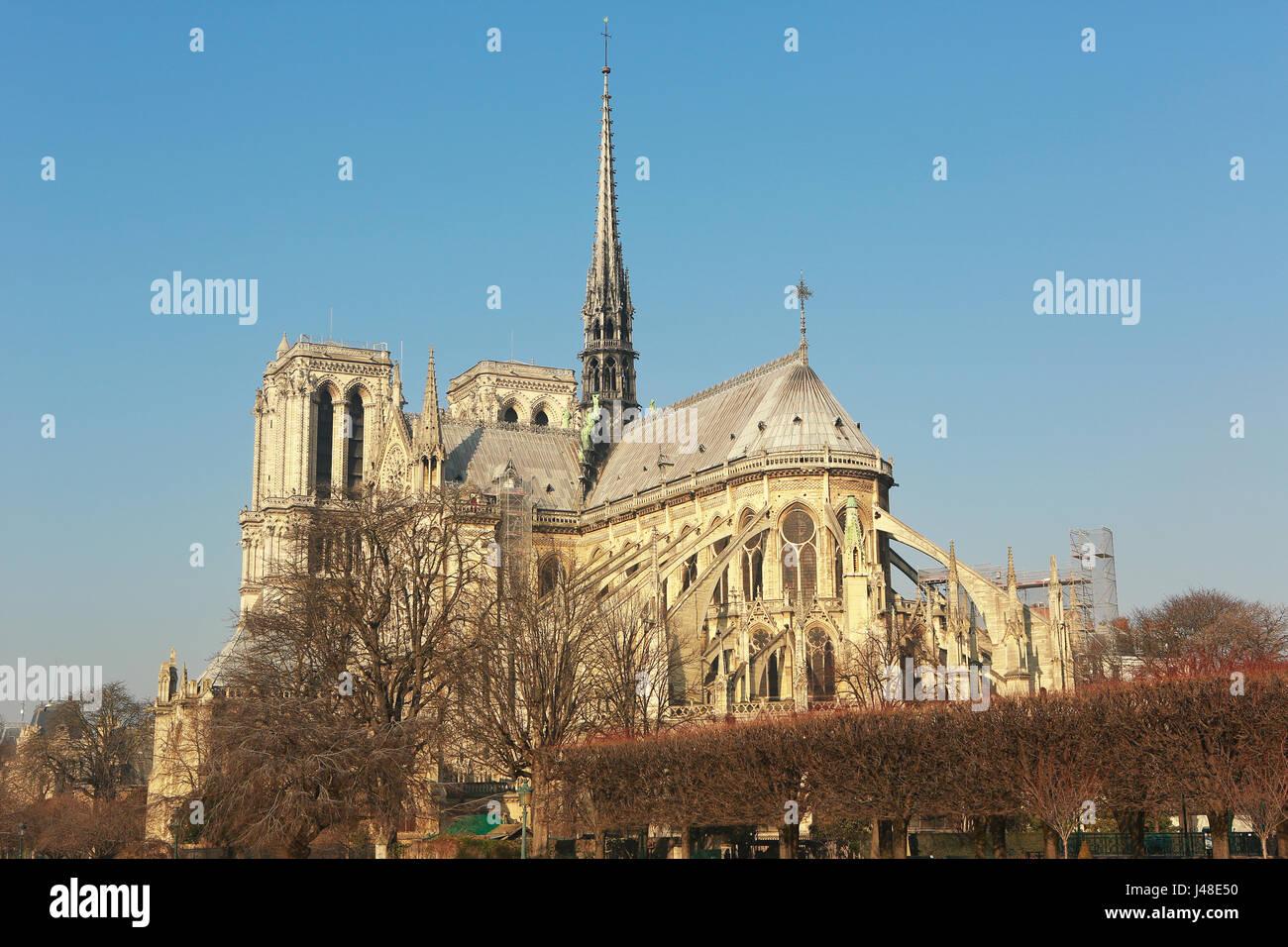 Seine River and historical landmarks around - Stock Image