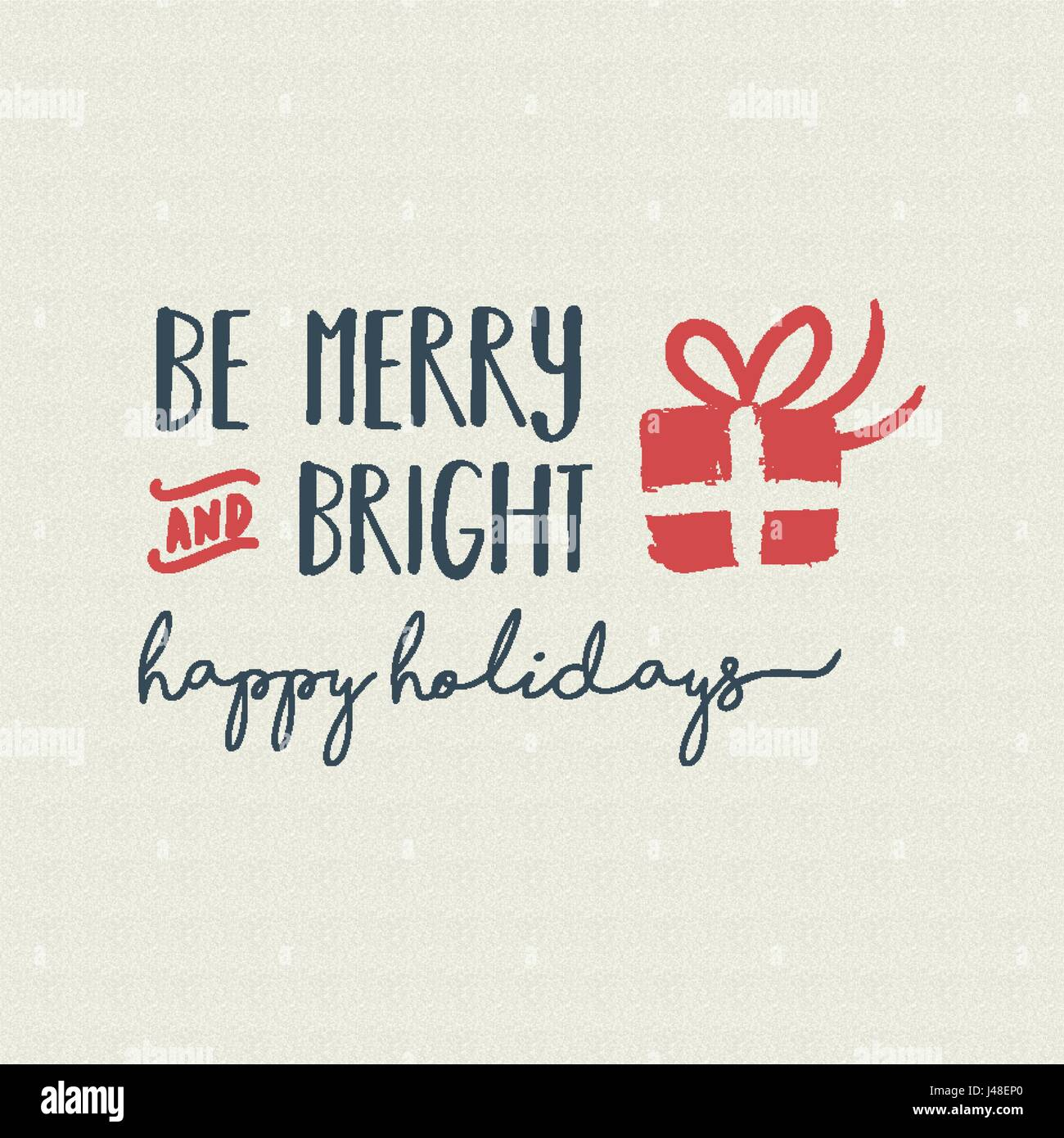 Christmas vintage calligraphic quote design be merry and bright christmas vintage calligraphic quote design be merry and bright lettering illustration for holiday season greeting card eps10 vector m4hsunfo