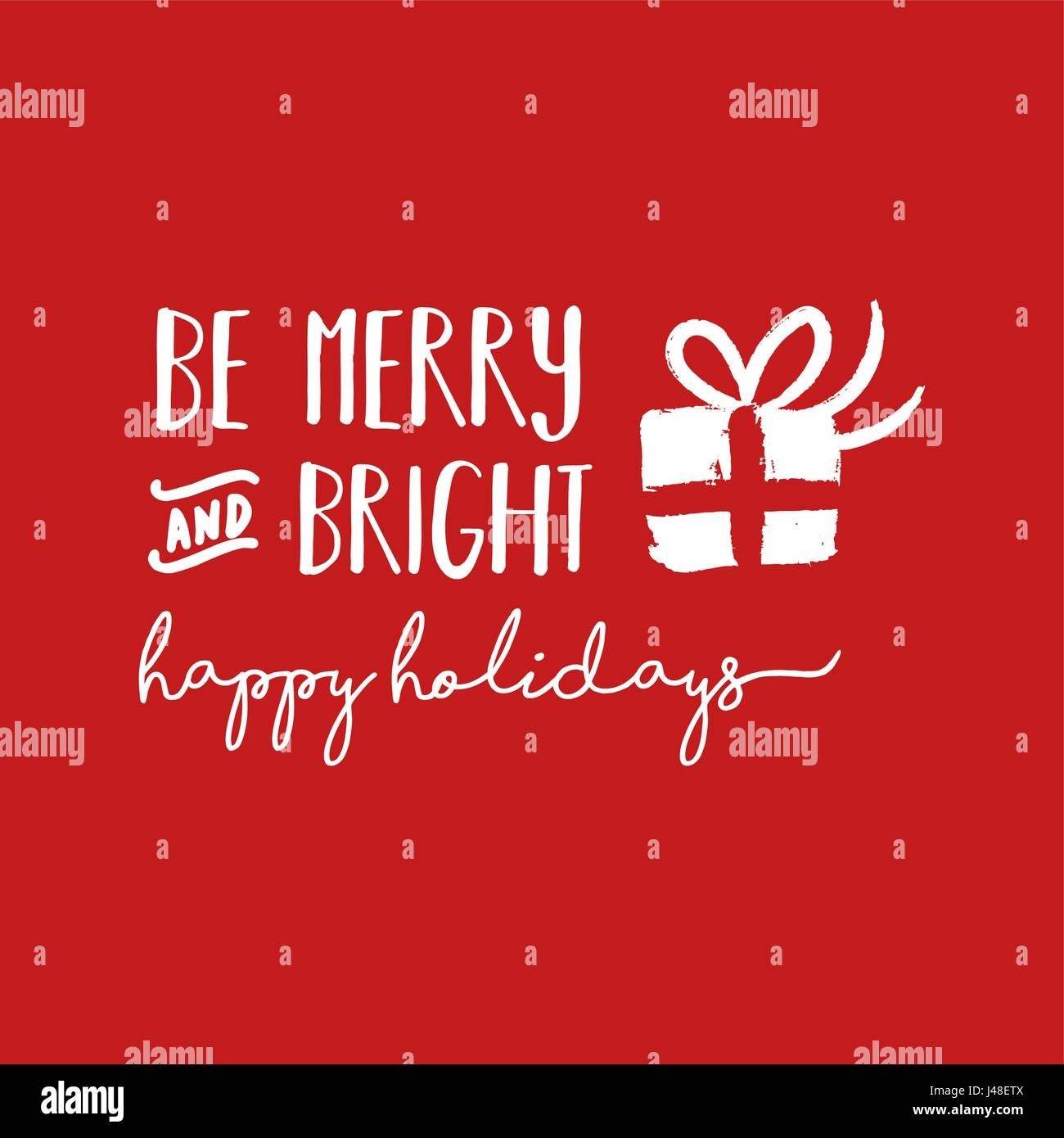 Christmas calligraphic quote design be merry and bright lettering christmas calligraphic quote design be merry and bright lettering illustration for holiday season greeting card eps10 vector m4hsunfo