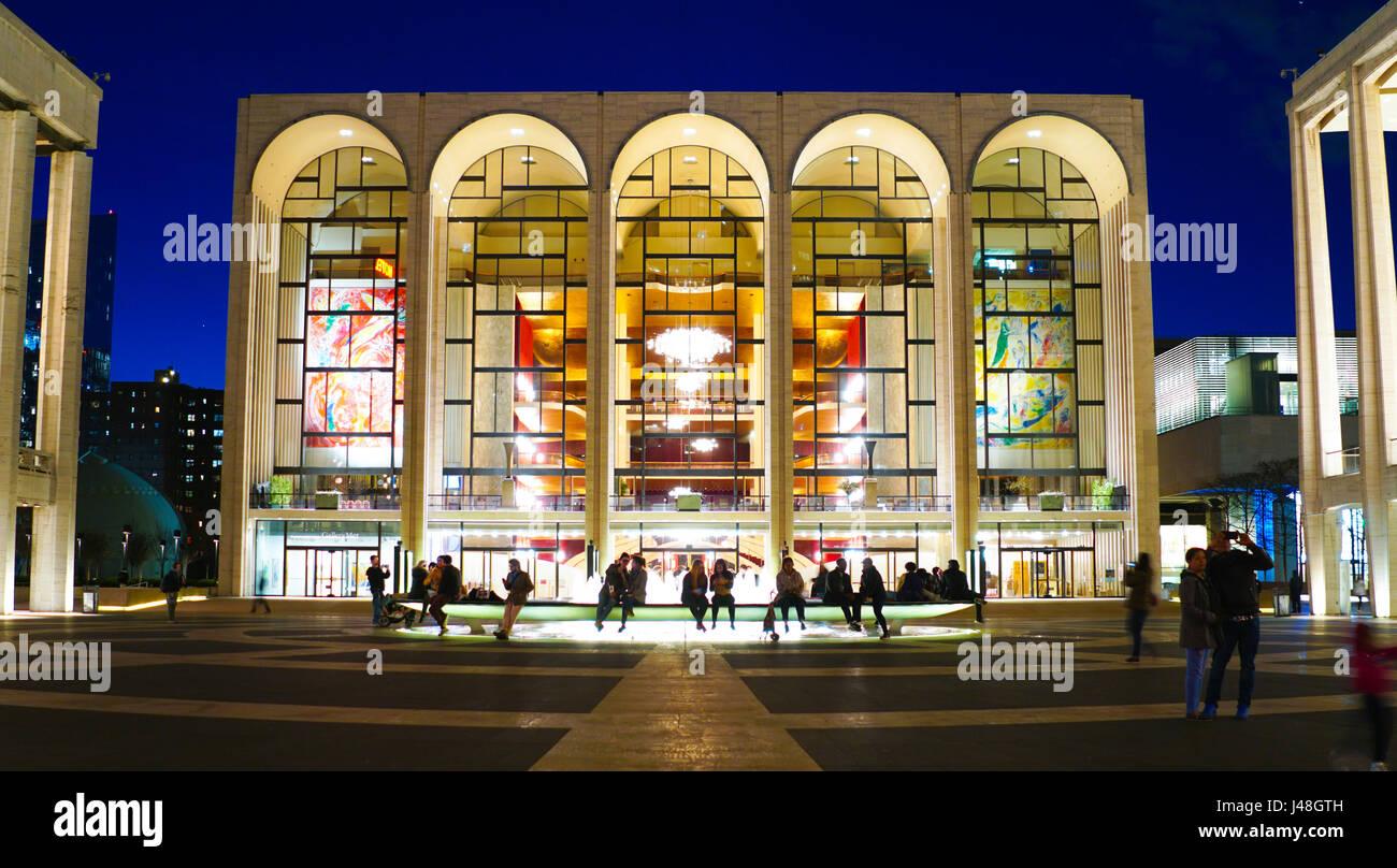 MET - The Metropolitan Opera at Lincoln Center in Manhattan- MANHATTAN / NEW YORK - APRIL 1, 2017 - Stock Image