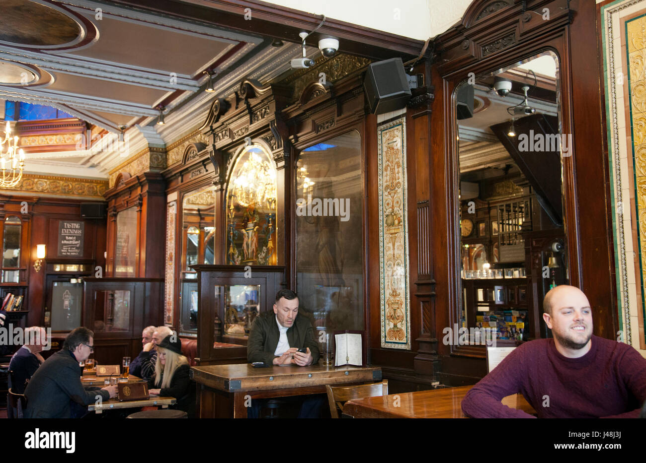 St Giles Bar on Oxford Street (near Tottenham Crt Rd) in London UK - Stock Image