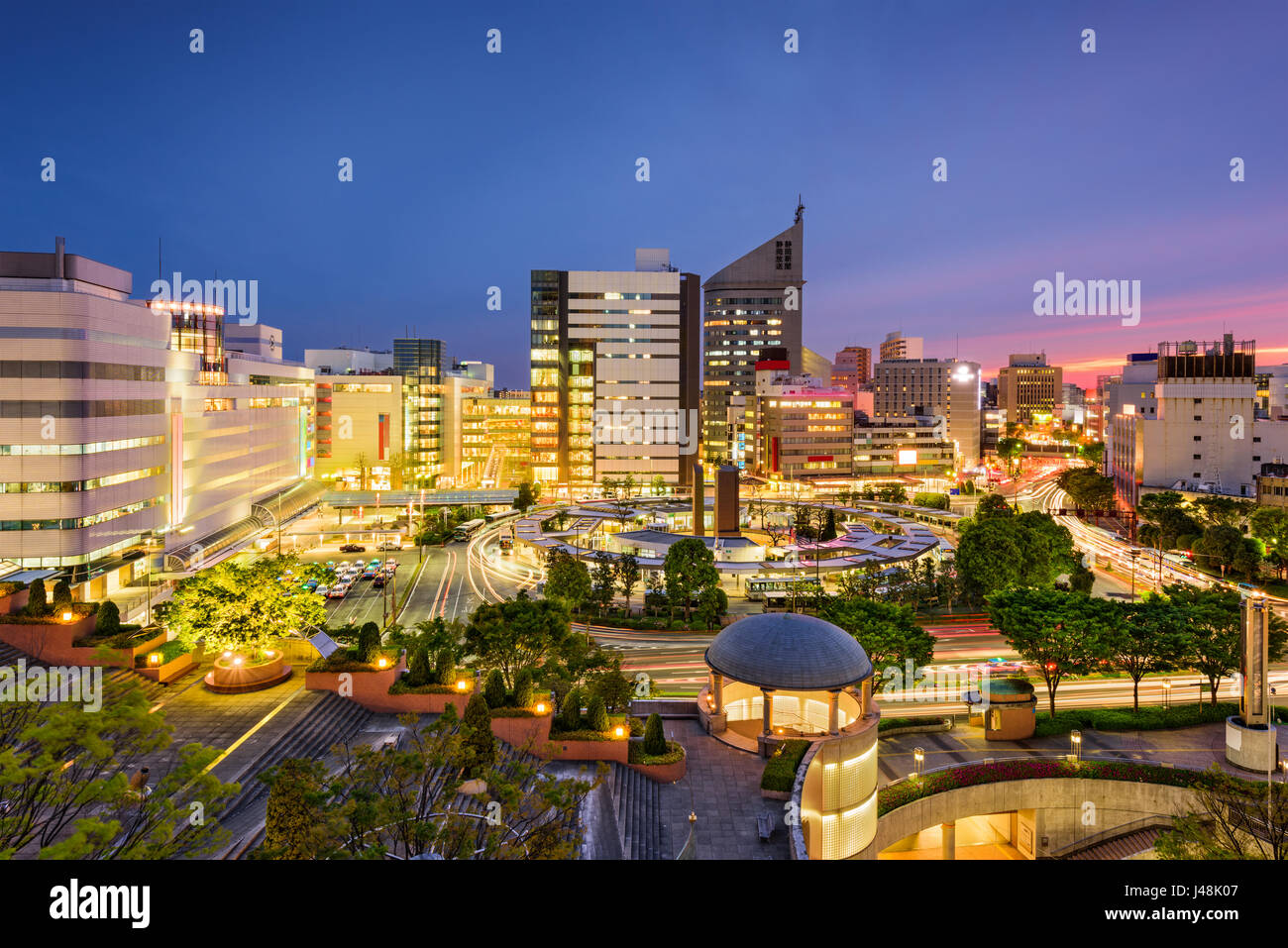 Hamamatsu, Japan city skyline at twilight. - Stock Image