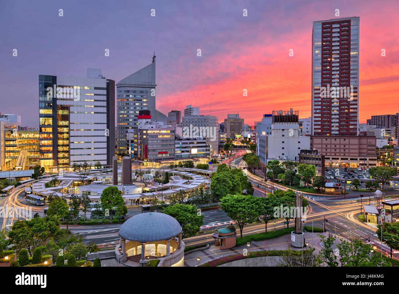 Hamamatsu City, Japan skyline at twilight. - Stock Image