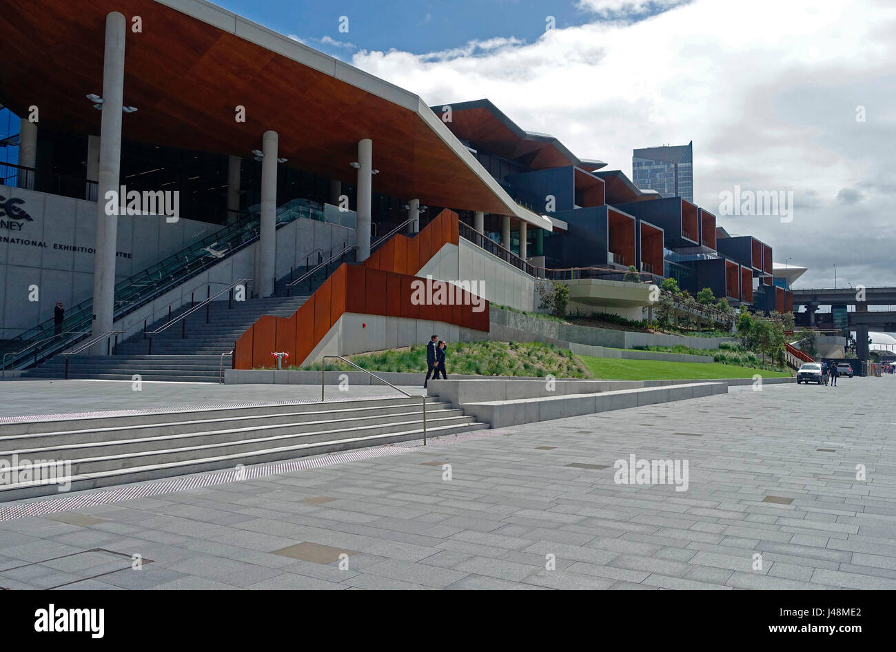 The ICC Sydney Exhibition Centre at The International Convention Centre Sydney (ICC Sydney), Australia - Stock Image