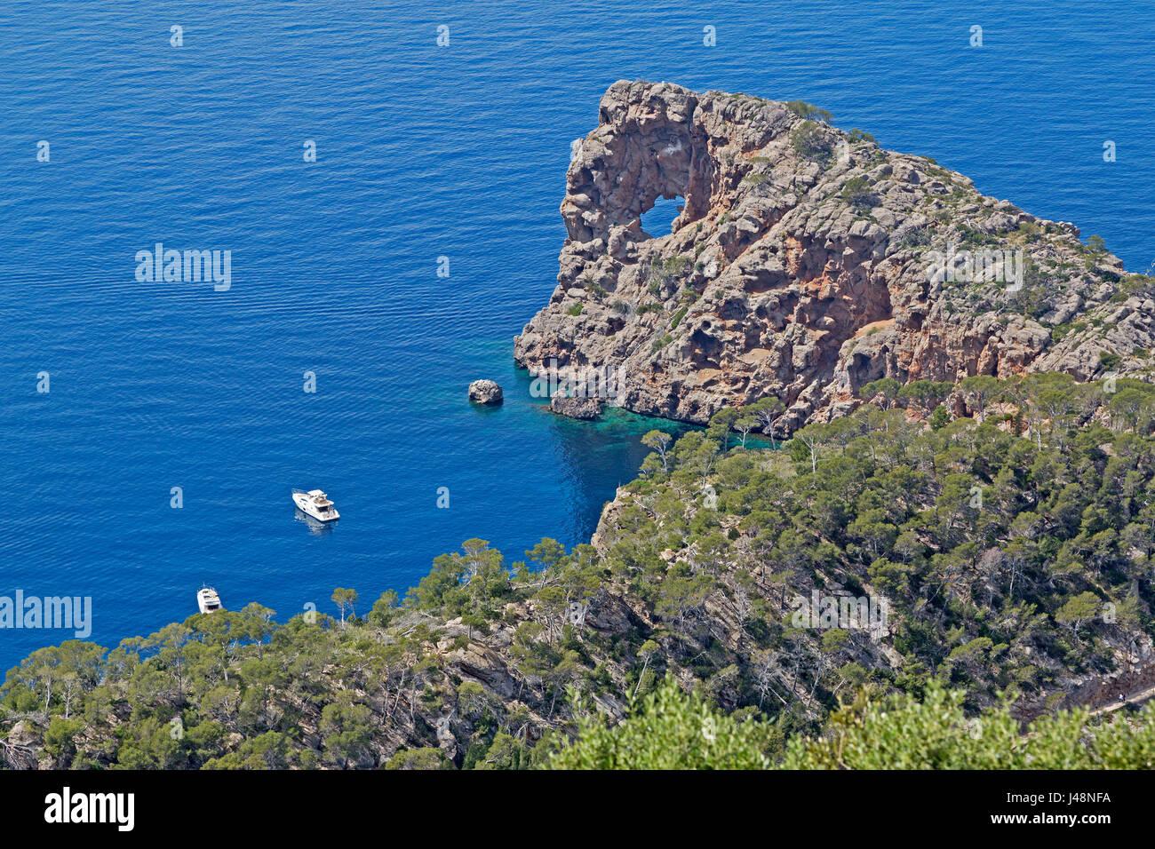 Sa Foradada Peninsula near Son Marroig, Majorca, Spain - Stock Image