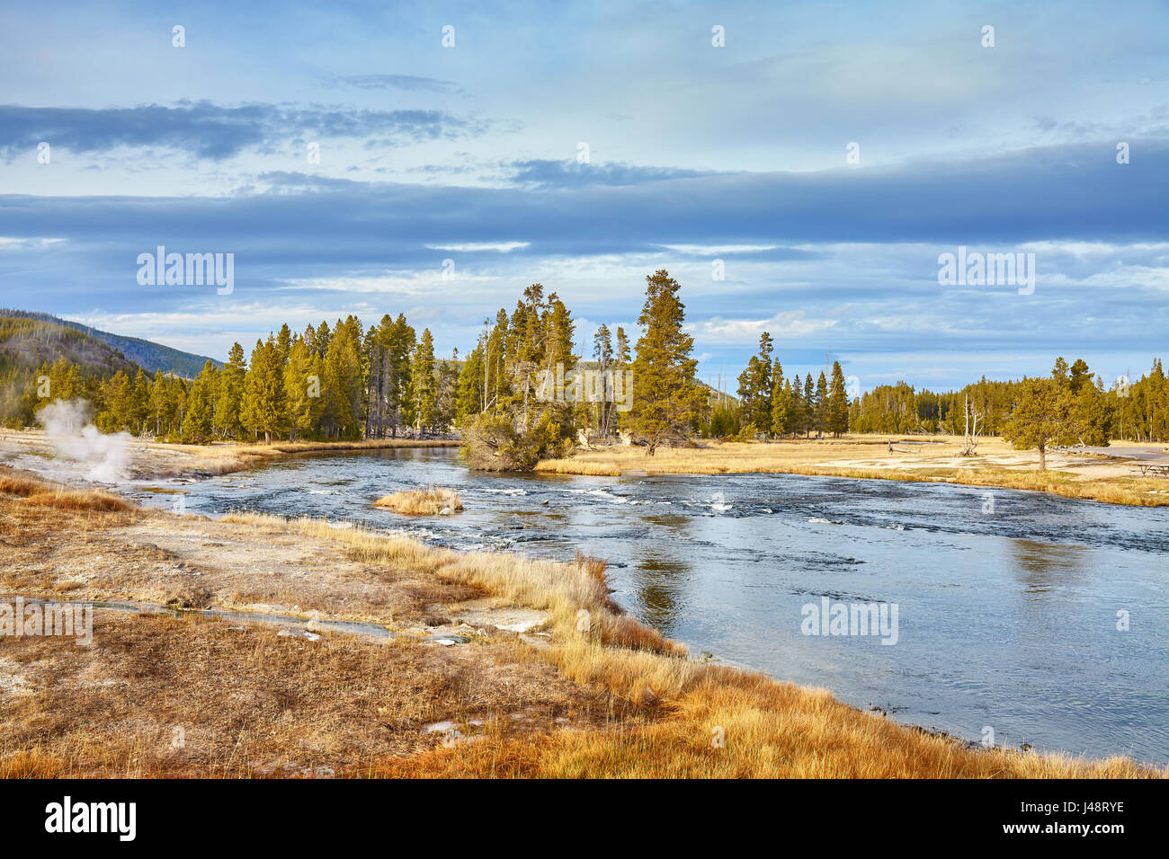 Autumn landscape in Yellowstone National Park, Wyoming, USA. - Stock Image