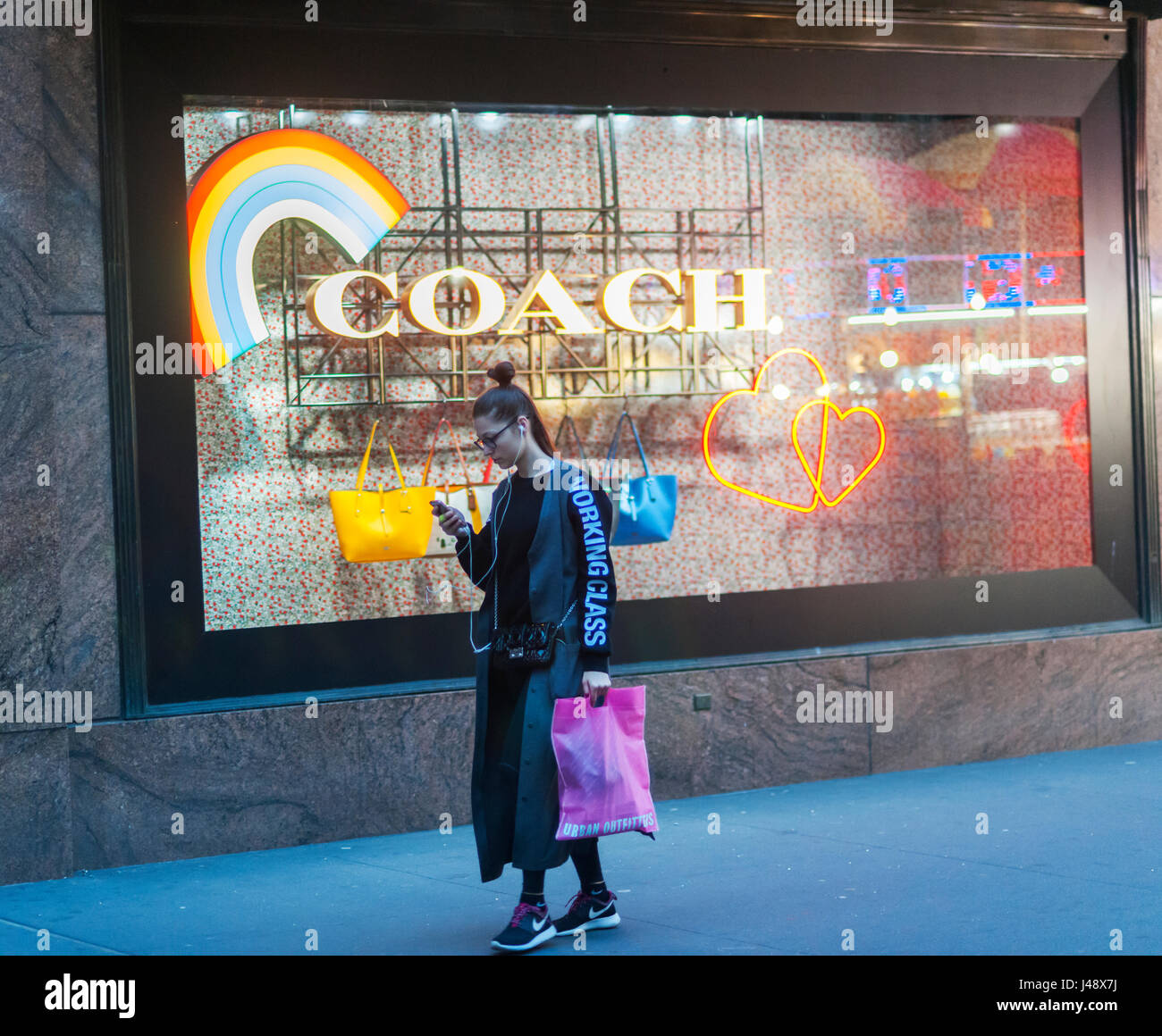 Macy's Department Store Windows In New York Promote Coach