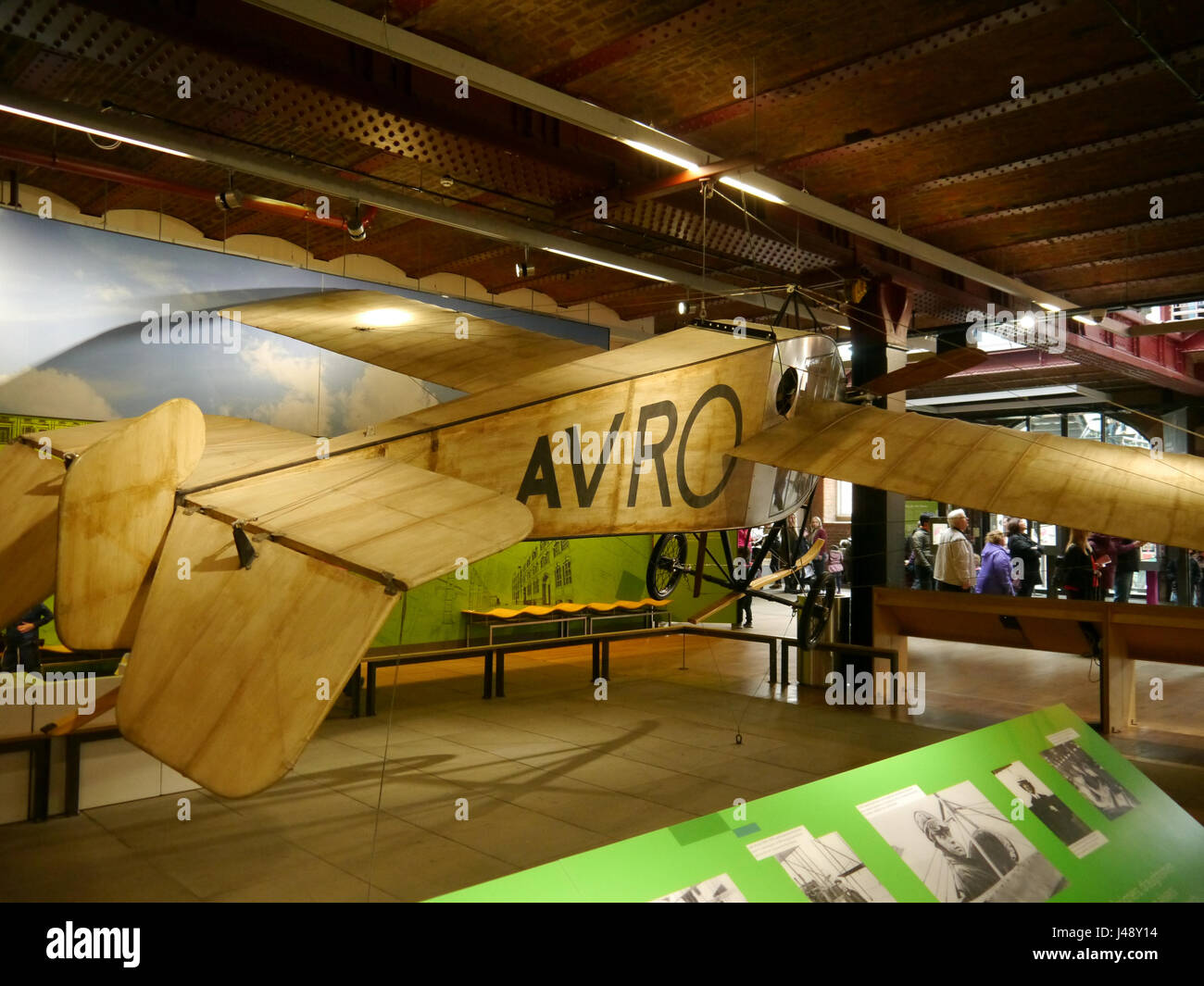 The Manchester-built Avro F, the first enclosed-cabin monoplane to fly in the world - Stock Image