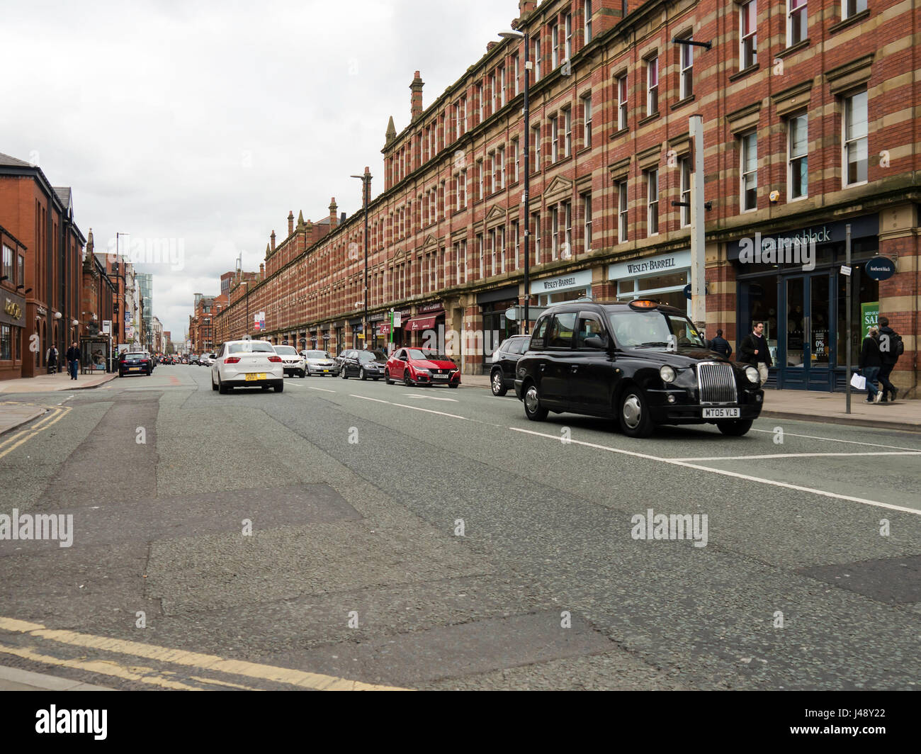 A view of Deansgate, Manchester city centre, England - Stock Image