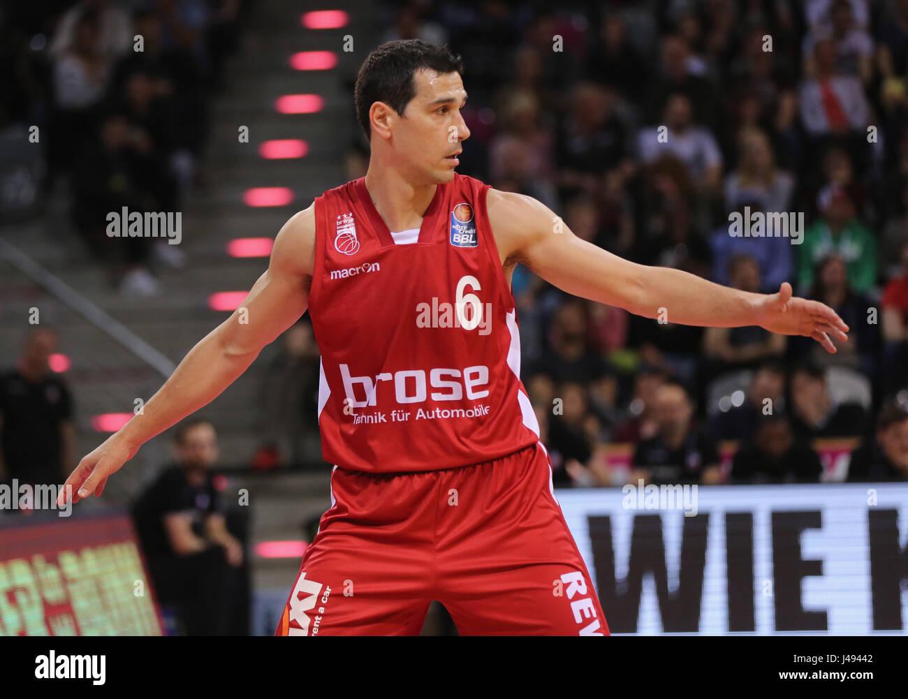 Bonn, Germany, 10th May 2017, basketball playoff, Telekom Baskets Bonn vs Brose Bamberg: Nikolaos Zisis (Bamberg). - Stock Image