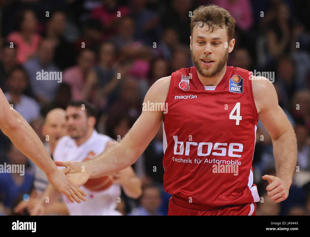 Bonn, Germany, 10th May 2017, basketball playoff, Telekom Baskets Bonn vs Brose Bamberg: Nicolo Melli (Bamberg). - Stock Image