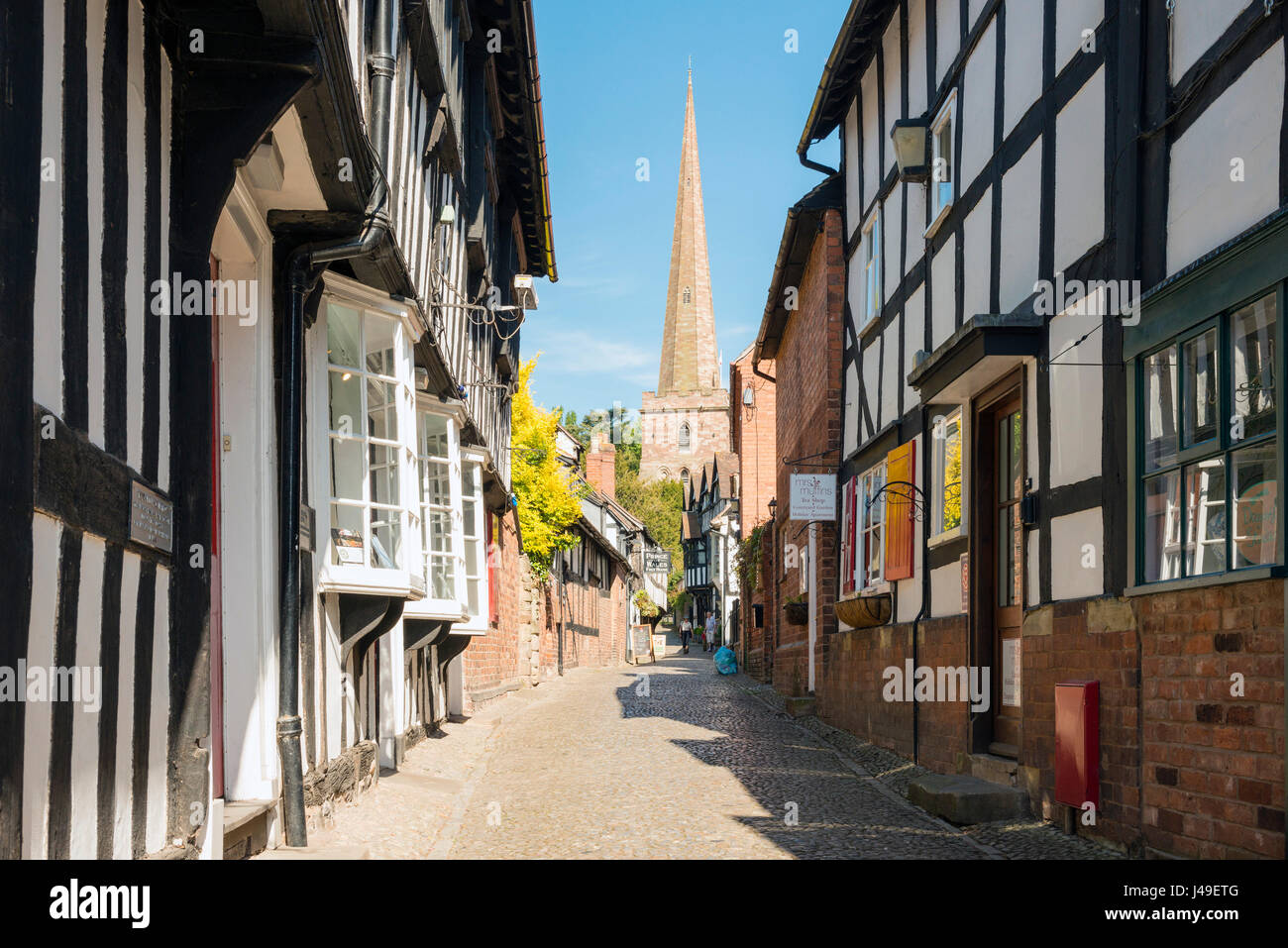 Ledbury Herefordshire, UK - Church Lane. - Stock Image