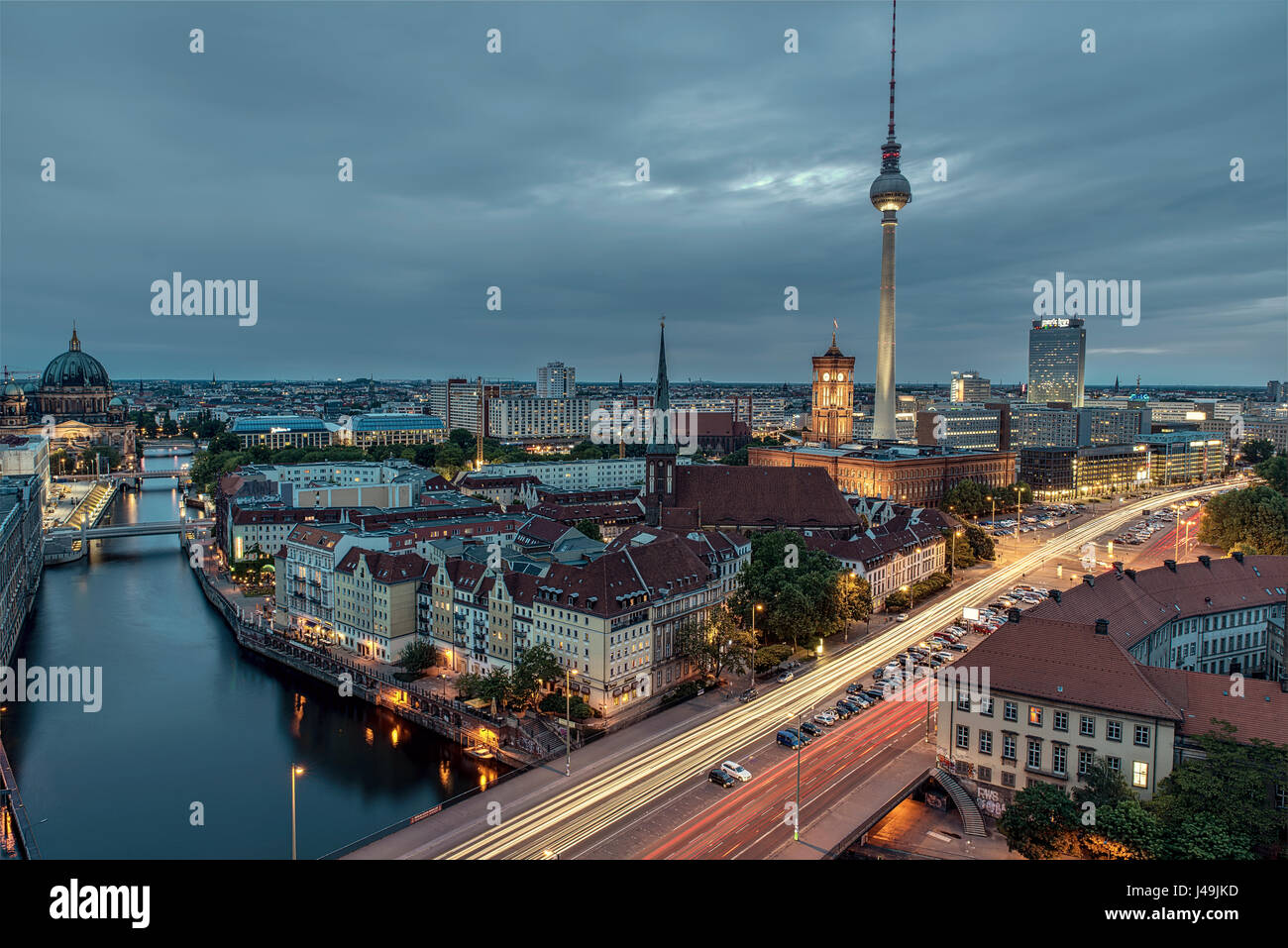Fischer Insel - A view of Berlin - Germany - Stock Image