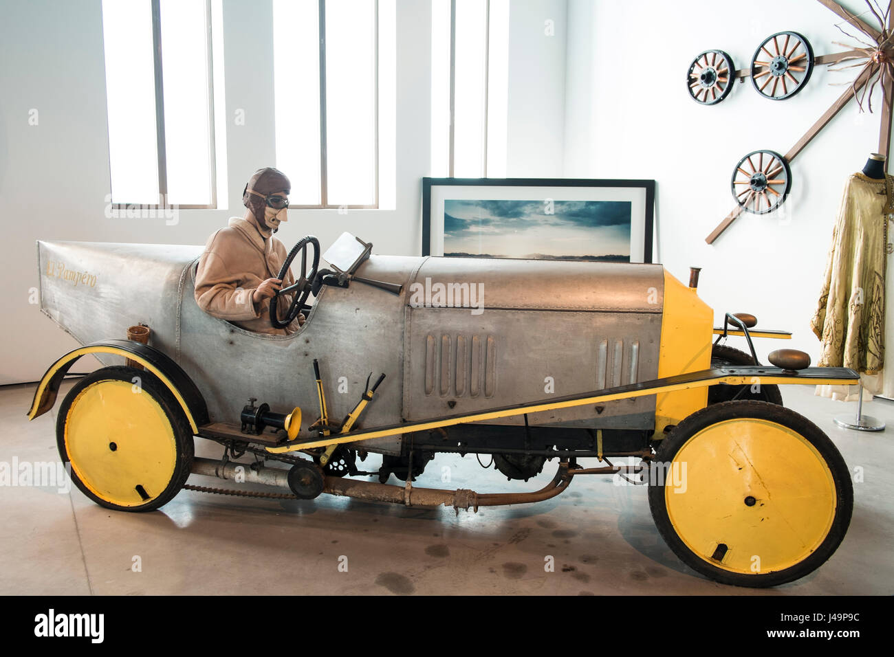 Barron Acroyd 1912 UK, 2 cil. 12 HP 1000 cc. El Pampero. Automobile museum of Málaga, Andalusia, Spain - Stock Image