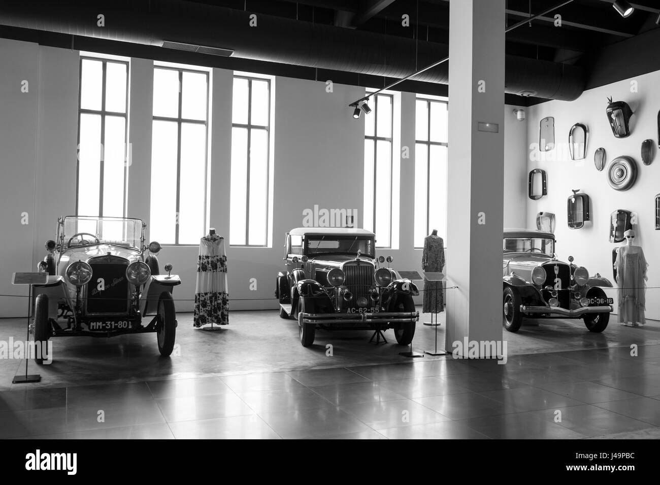 Automobile museum of Málaga, Andalusia, Spain - Stock Image