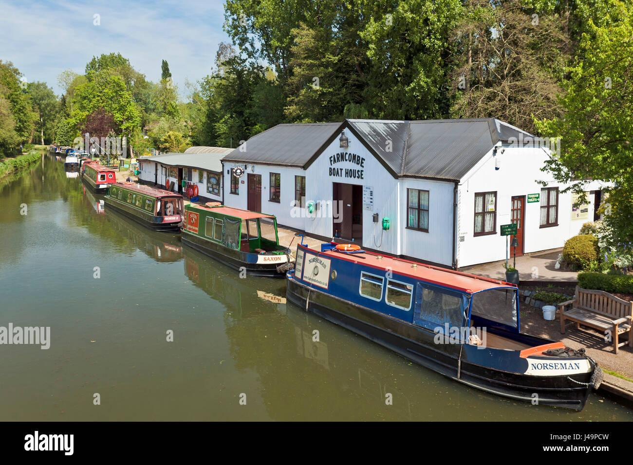 Farncombe boat house,Godalming. - Stock Image