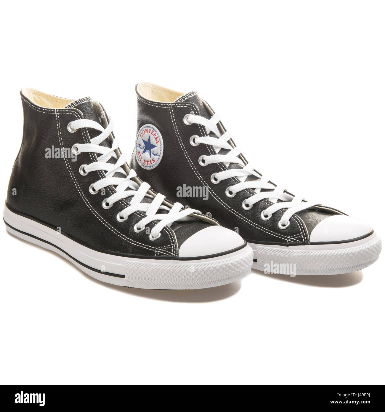 9043d1e16fee97 Converse Chuck Taylor All Star Hi Black Leather Shoe - 132170C Stock ...