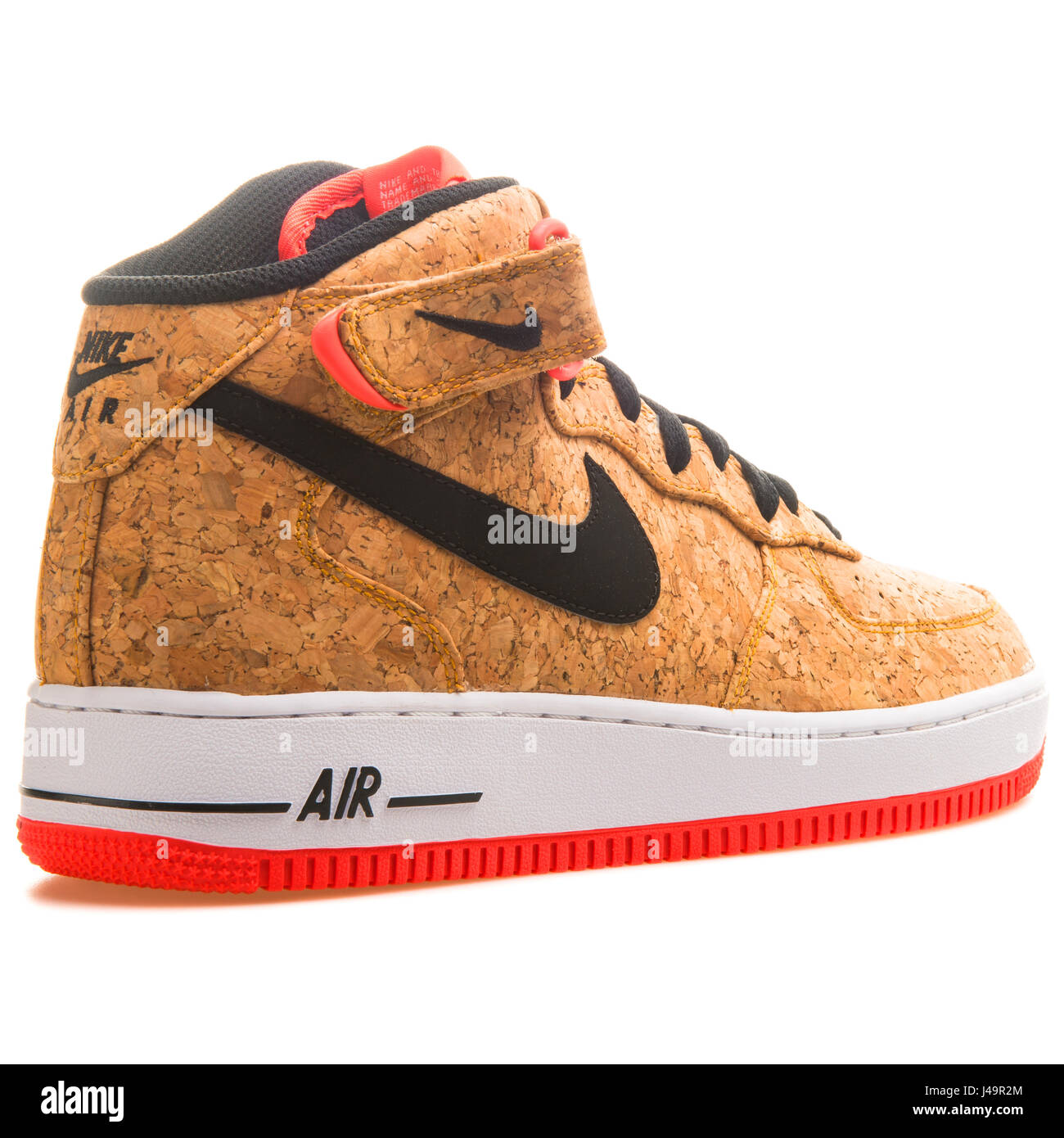 sports shoes 08cab df731 Nike Air Force 1 Mid '07 Cork - 748282-100 Stock Photo ...