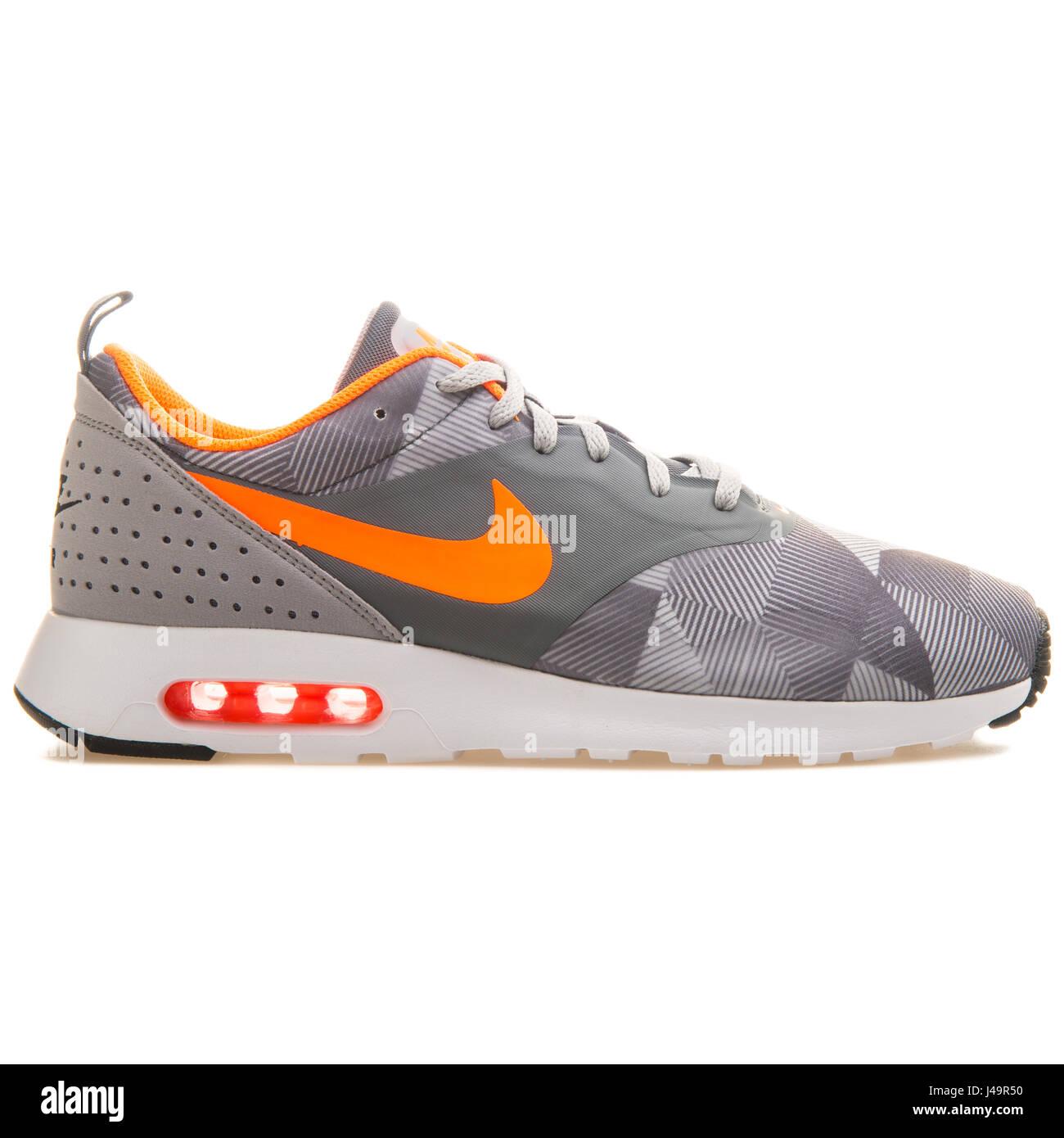 Nike Air Max Tavas Print Dark Grey Orange - 742781-018 Stock Photo